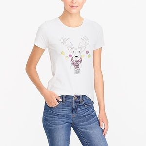 "J Crew Factory ""Deer In Lights"" collectors T-Shirt"